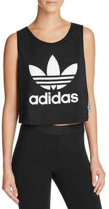 adidas Originals Loose Crop Trefoil Tank $30 thestylecure.com