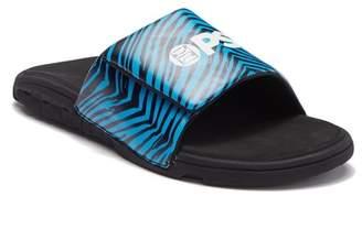 PSD Neon Zebra Slide Sandal