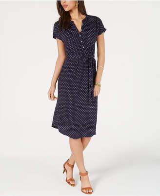 Lucky Brand Printed Knit Henley Dress