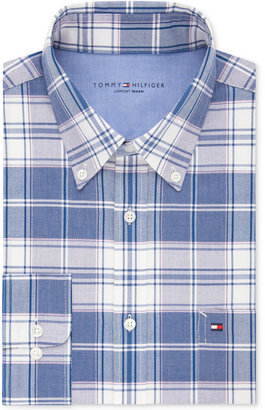 Tommy Hilfiger Men's Slim-Fit Comfort Wash Untucked Dress Shirt, Only at Macy's $75 thestylecure.com