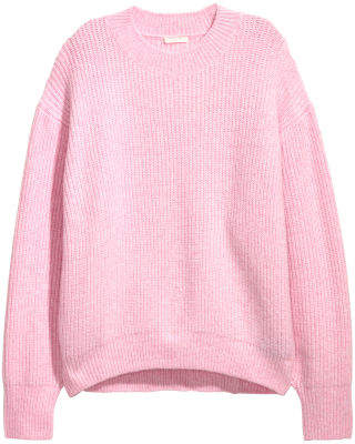 H&M Rib-knit Sweater - Pink