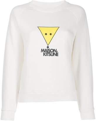 MAISON KITSUNÉ smiley fox print sweatshirt