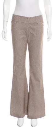 Alice + Olivia Low-Rise Flared Pants