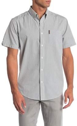 Ben Sherman Mini Window Check Short Sleeve Regular Fit Shirt