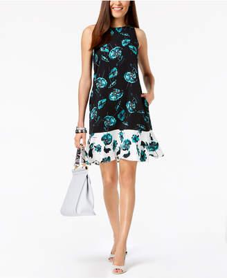 Alfani Petite Flounce Hem Fit & Flare Dress, Created for Macy's
