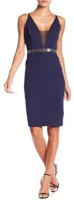 Marina V-Neck Embellished Waist Dress