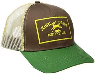 John Deere Men's Twill and Mesh Cap Embroidery