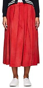 Comme des Garcons WOMEN'S TIE-DYED COTTON FULL SKIRT-RED SIZE 1