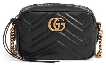 Gucci Gg Marmont 2.0 Matelasse Leather Shoulder Bag - Black