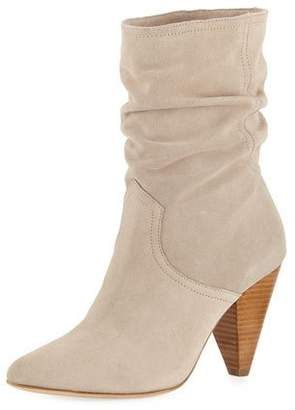 Joie Gabbissy Slouchy Suede Mid-Calf Boots