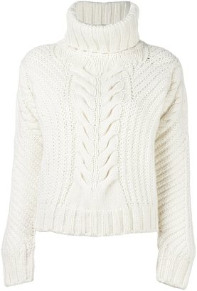 Tommy Hilfiger Tommy x Gigi Hadid chunky cable knit jumper $238.85 thestylecure.com