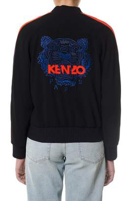 Kenzo Black Sweatshirt With Back Tiger Print