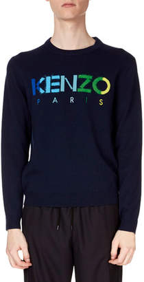 Kenzo Men's Paris Logo Wool Sweater