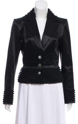 John Galliano Draped Textured Blazer Clearance Find Great sNo4oYGL