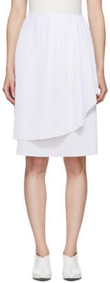 Cédric Charlier White Layered Ruffle Skirt