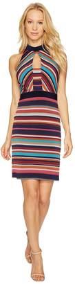 Laundry by Shelli Segal Printed Stripe Sheath Dress Women's Dress