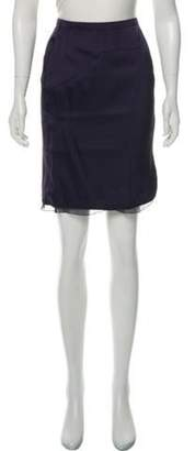Valentino Layered Knee-Length Skirt w/ Tags Navy Layered Knee-Length Skirt w/ Tags