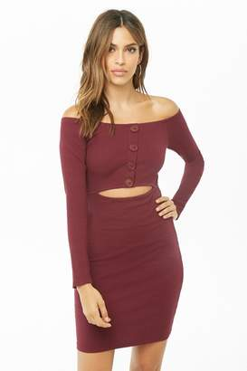 Forever 21 Off-the-Shoulder Cutout Bodycon Dress
