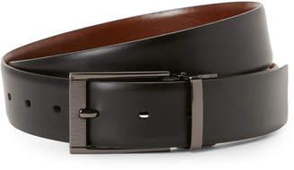 Perry Ellis Portfolio Black Scratch Reversible Belt