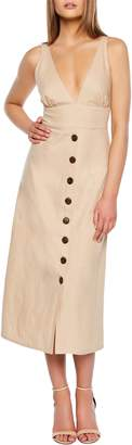 Bardot Shelby Button Midi Dress