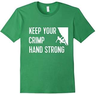 Funny Rock Climbing TShirt: Keep Your Crimp Hand Strong Tee