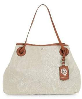 Tommy Bahama Embroidered Canvas Tote