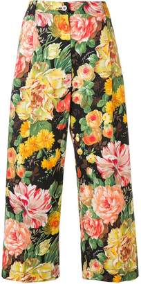 Dolce & Gabbana cropped floral trousers