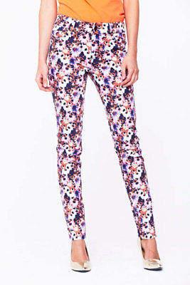 "Love Label Floral Print Skinny Jeans In Print Size 8 Leg Length 29"""