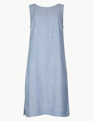 Marks and Spencer Fuller Bust Linen Rich Shift Mini Dress