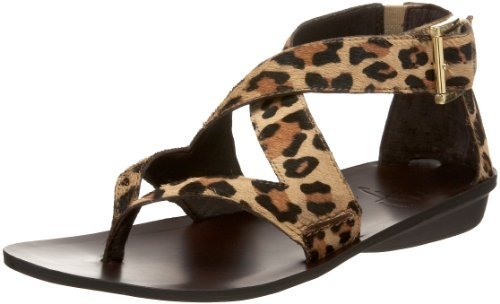 B. MAKOWSKY Women's Gold Sandal