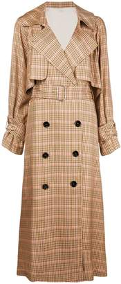 Golden Goose checked trench coat