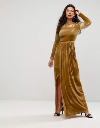 Club L Tie Front Wrap Detail Maxi Dress