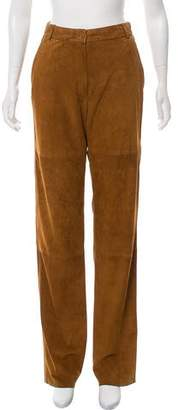Max Mara Weekend Suede High-Rise Wide-Leg Pants w/ Tags