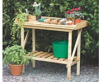 Forest Garden Potting Bench