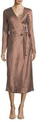 Diane von Furstenberg Tilly Satin Silk Wrap Dress