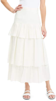 Theory Tiered Linen Maxi Skirt