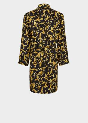 Versace Baroque Silk Robe
