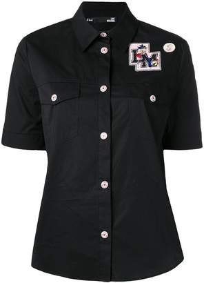 Love Moschino College Doll patch shirt