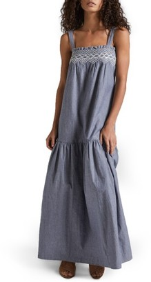 Women's Current/elliott The Rancher Chambray Maxi Dress $288 thestylecure.com