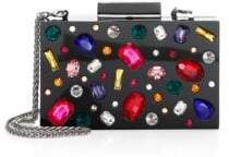 Alice + Olivia Women's Jeweled Lucite Clutch