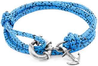 CLYDE ANCHOR & CREW - Blue Noir Anchor Silver & Rope Bracelet