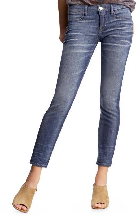 Cropped skinny jeans (medium wash)