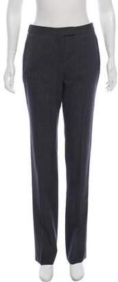 Maison Margiela Wool Mid-Rise Straight-Leg Pants
