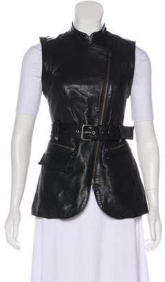Rachel Zoe Leather Moto Vest