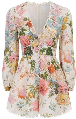 Zimmermann Heathers Floral Playsuit