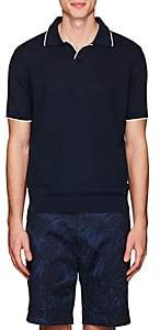 Barneys New York Men's Contrast-Tipped Cotton Polo Shirt-Navy