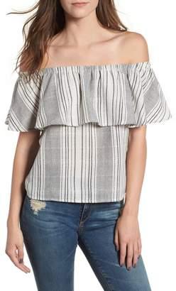 LIRA Stella Stripe Off the Shoulder Top