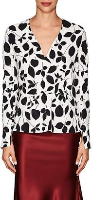 Narciso Rodriguez Women's Floral Stretch-Silk Crepe Blouse