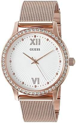 GUESS Women's Stainless Steel Crystal Mesh Bracelet Watch