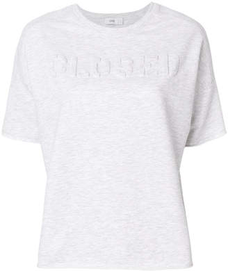 Closed textured logo T-shirt
